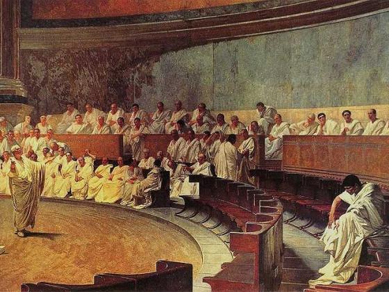 Cicero Catilina im Senat