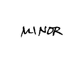 Unterschrift Minor