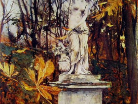Giovanni Boldini Statue in the Parc of Versailles 1909